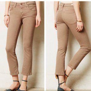 Pilcro | Low Rise Straight Leg Cropped Jean 27